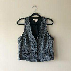 Michael Michael Kors tweed waistcoat vest